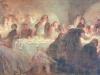 Marcel Legay chantant au cours d'un banquet par Léandre